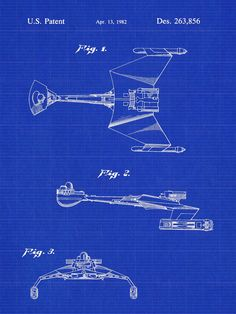 Star Trek Klingon Battlecruier Patent Print - Patent Poster - Star Trek Poster - Toy Spaceship Patent - Faux Vintage
