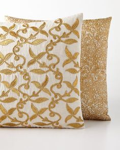 John Robshaw Golden Pillows