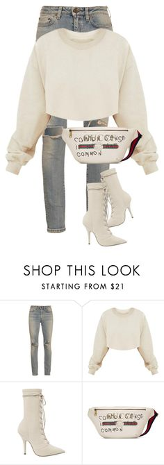 """""""Untitled #371"""" by nelafashion ❤ liked on Polyvore featuring Yves Saint Laurent and Gucci"""