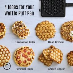 Bubble waffles are a delicious treat, but can also be a fun way to make savory meals. Read on for more on bubble waffles and how you can start making them at home. Pampered Chef Party, Pampered Chef Recipes, Pampered Chef Products, Pampered Chef Catalog, Waffle Pops, Waffle Pizza, Waffle Maker Recipes, Waffle Cone Recipe, How To Make Waffles