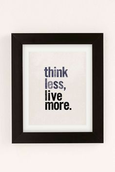Chloe Vaux Think Less Live More Art Print - Urban Outfitters