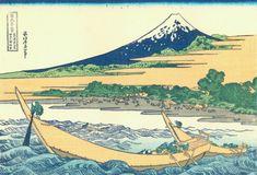 「東海道江尻田子の浦略図」 葛飾北斎 富嶽三十六景19