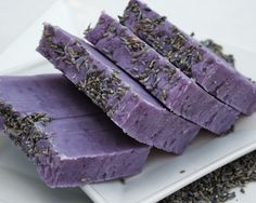 [ Visual Inspiration for textured Lavender Soap ]