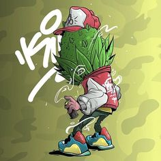 S O L D !! Big thanks @graffiti_anleitung Buds Head . . Any inquiry & commision, DM or bite me here : medworkingclass@gmail.com #character #characterdesign #digitalart #art #illustration #bud #kush #maryjane #cannabis #nuglife #graffiti