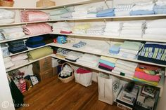 Walk In Linen Closet- Wow.. This is more like a small room.