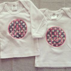 Baby A & Baby B Long Sleeve Shirt Set. by sidneykarissa on Etsy, $25.00