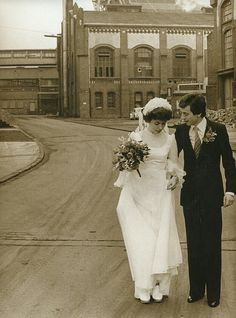 Unsere Hochzeit auf Zeche Waltrop 1978.