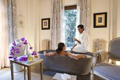 Relaxing in the Spa Suite, didicated to couples...