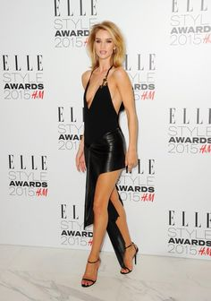 From the Vanity Fair Oscars Party to to the Elle Style Awards, Rosie Huntingdon-Whiteley never misses an opportunity to stun on the red carpet like in this daring LBD on Feb. 24, 2015.
