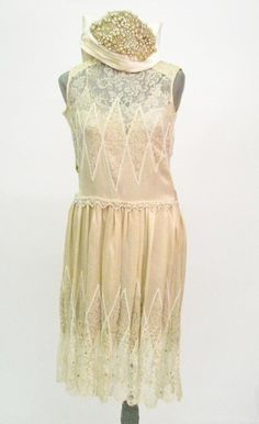 Vintage Great Gatsby Style Flapper Dress : Lot 647