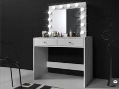 Transport gratuit în România Makeup Dressing Table, Beauty Room, Vanity, Led, Mirror, Stan, Furniture, Bedroom, Home Decor