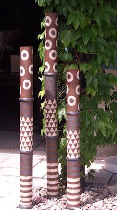 Säulen für den Garten - Gartenkeramik von Margit Hohenberger