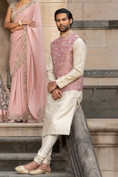 Memoirs of a Maharani Engagement Dress For Groom, Couple Wedding Dress, Wedding Outfits For Groom, Groomsmen Outfits, Engagement Dresses, Groom Outfit, Wedding Kurta For Men, Wedding Dresses Men Indian, Indian Bridal Outfits