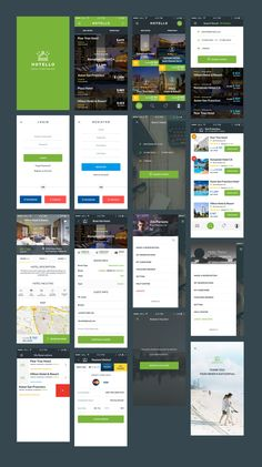 Mobile UI Kit for Hotel reservations