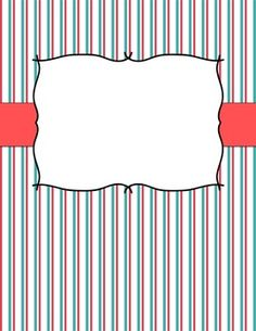 Poppy Binder Covers - 3 different designs, 3-4 different colors of each design. TPT {$1.00}