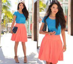 Naranja + azul klein