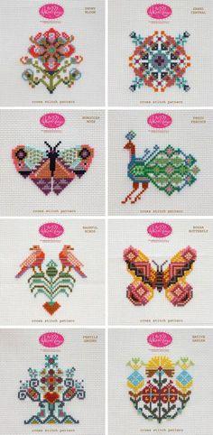 Anna Marie Horner Cross Stitch Pattern Set 1: Birds Butterfly Moth Peacock