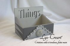 Boite vide poche, originale et utile - by Lys-Créart' #handmade #videpoche #boiteelegante #eleganceetraffinement