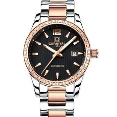 Steel Casual and fashion Waterproof Calendar Lumious HD Watches Women Watch Mechanical Auto