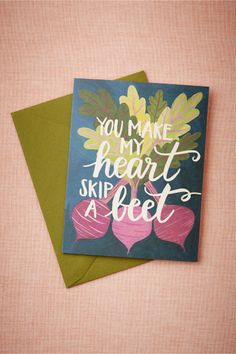 Skip A Beet Card from BHLDN