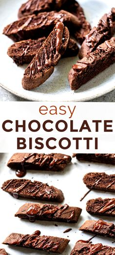 Double Chocolate Biscotti RecipeHow to make double chocolate biscotti - the perfect cookie for snacking or Double Chocolate Biscotti Recipe, Best Biscotti Recipe, Chocolate Cookies, Christmas Biscotti Recipe, Italian Biscotti Recipe, Holiday Baking, Christmas Baking, Italian Christmas, Christmas Cookies