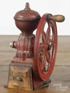 National cast iron coffee mill, century, h. Antique Coffee Grinder, Coffee Grinders, West Grove, Cup Of Jo, Kitchen Items, Queso, Vintage Kitchen, Carne, Cast Iron