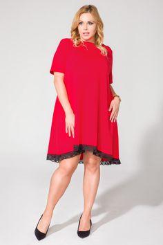 Sukienka T107 SIZE PLUS - TESSITA - Moda dla puszystych