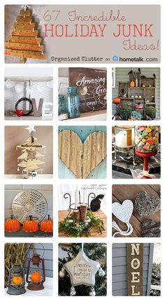 AMAZING list ! DIY Rustic and Vintage Finds into Holiday and Winter Farmhouse Decor !