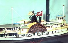 Martha's Vineyard-Nantucket Steamboat RIVER QUEEN c.1871, Detail