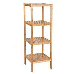 Songmics 100 Bamboo Bathroom Shelf 4 Tier Multifunctiona Https