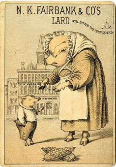 N.K. Fairbank & Co's lard will fatten the youngsters...and set them up for coronary disease as adults!