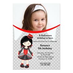 Vampire Birthday Invitations Cute vampire birthday with a photo card