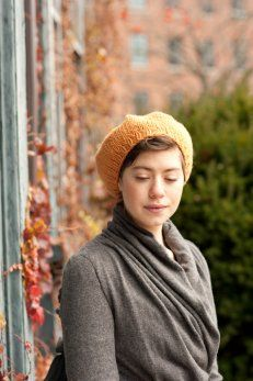 sporting beret from Quince & Co.