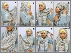 Trendy Hijab Styles Tutorial of 2013