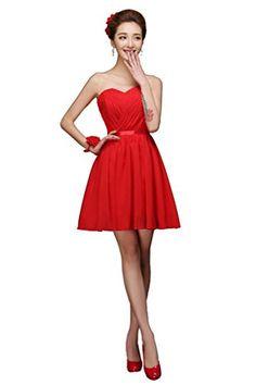 My Wonderful World Women'Sweetheart Neckline Strapless Bridesmaids Dress Party Dress