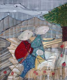 senza titolo - acrilico, tessuto su tela - 125 x 103 - 2012