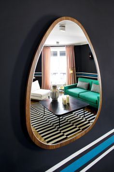 Buy the Wall mirror Ovo from Maison Sarah Lavoine, on Made in Design - 48 to 72 hours delivery. Interior Styling, Interior Decorating, Pouf Design, Window Styles, French Interior, Elle Decor, Interior Architecture, Living Spaces, Sweet Home