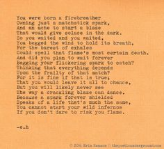 """""""Firebreather"""" by Erin Hanson #thepoeticunderground #poetry"""