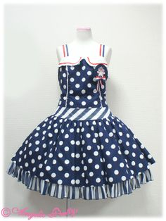 French Doll Low Waist JSK - red or blue