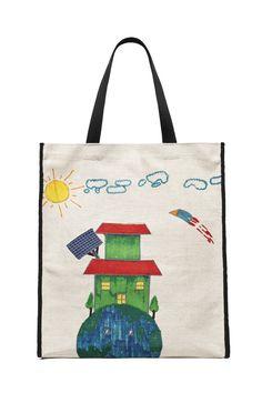 Tasche mit Kindermalerei von Marni