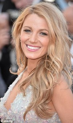 ** Favorite ** Minimal effort: Blake, pictured in Cannes, says she uses seawater to give her hair texture