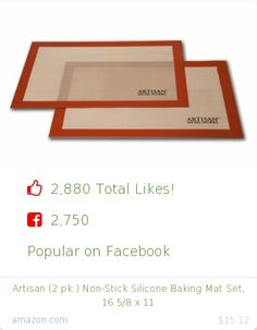 Top christmas gift on Facebook.  2750 people likes on Internet. 2750 facebook likes. artisan metal works amazon christmas gift. artisan 2 pk non stick silicone baking mat set 16 5 8 x 11 from amazon christmas gifts. http://www.MostLikedGifts.com/top-popular-christmas-gifts/amazom-christmas-gift-B00629K4YK-artisan-2-pk-non-stick-silicone-baking-mat-set-16-5-8-x-11