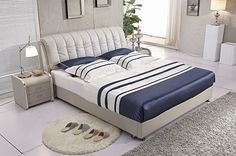 Speronella Modern Leather Bed Frame Leather Bed Frame, Modern Bedroom Furniture, Home Decor, Decoration Home, Room Decor, Contemporary Bedroom Furniture, Interior Decorating