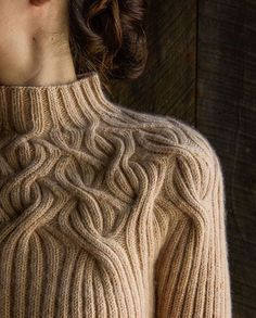 Botanical Yoke Pullover pattern from PurlSoho