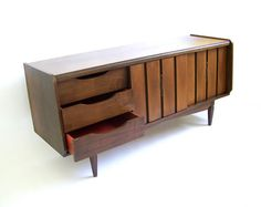 Vintage Credenza Mid Century Modern Furniture by stonesoupology, $768.00
