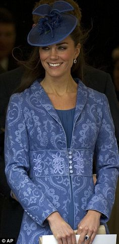 It's Periwinkle AND Paisley.  Kate Middleton is the luckiest woman ever and not because she married a prince!