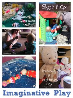 Imaginative Play ideas for Under 2's that you can set up quickly and easily