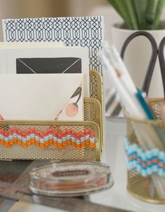 Organize! 12 Functional & Darling DIY Projects For Your Desk