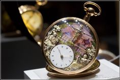 Tightrope performer automaton watch.  Circa 1820