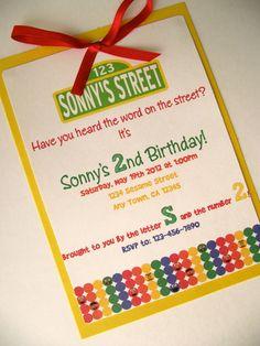 Sesame Street handmade invitations!